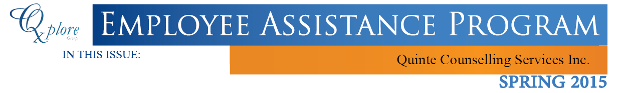 Employee Assistance Newsletter Spring 2015